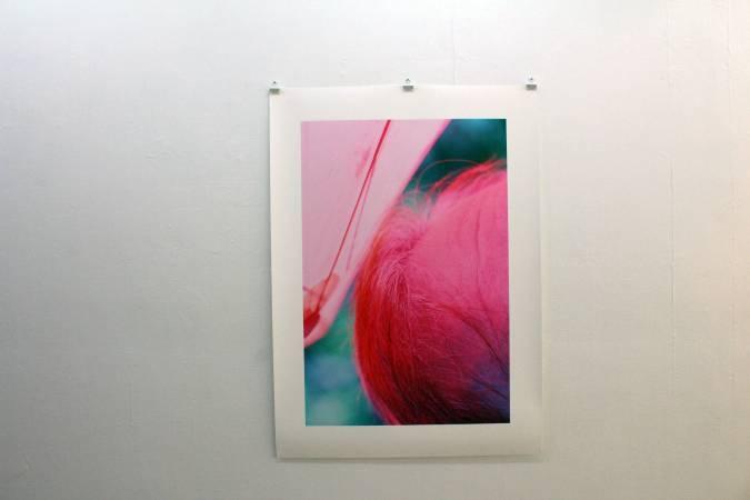 黃博志〈粉紅雨傘下的額頭〉。圖/非池中藝術網攝。