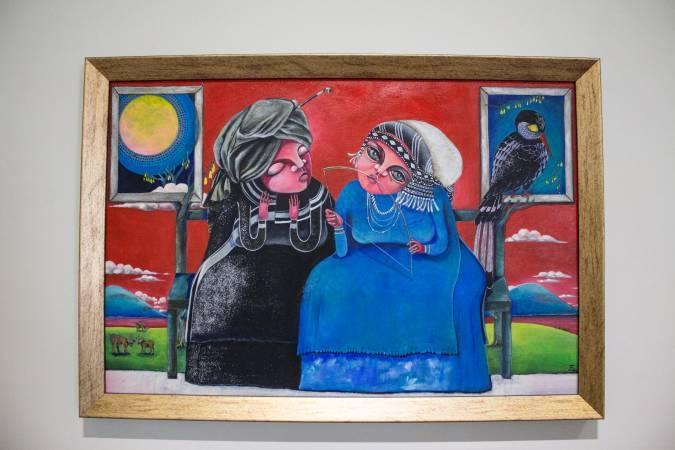 依法兒.瑪琳奇那《與月對歌》。圖/ 非池中藝術網 攝。
