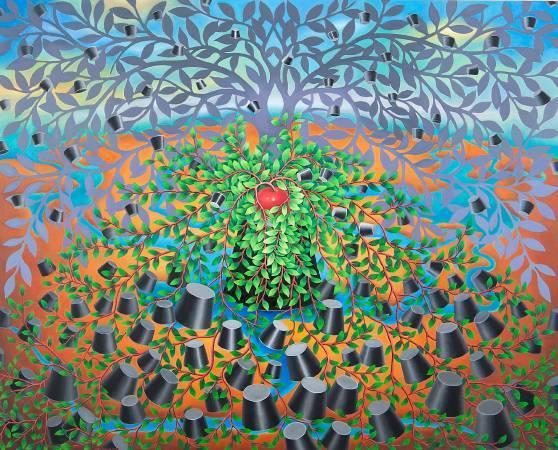 張瑞頻《生生不息》。圖/藝境畫廊提供