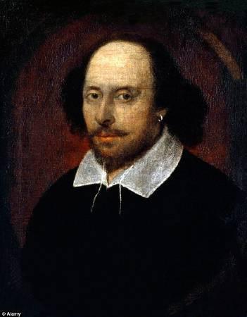 《錢多斯版莎士比亞畫像》(Chandos portrait of Shakespeare)。