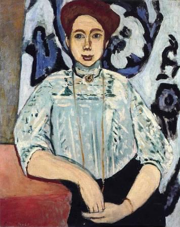 《葛麗泰.莫爾肖像》(Portrait of Greta Moll ,1908)。圖/取自artionado。
