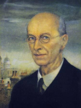 亞瑟.拉克姆自畫像,1934年。圖/取自維基百科。