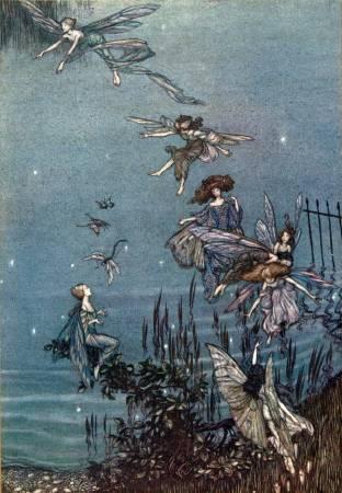 亞瑟.拉克姆《肯辛頓公園裡的彼得潘》中的插畫,1906年。圖/取自artofnarrative tumblr。