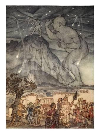 亞瑟.拉克姆《給女孩與男孩的神奇故事書》中的插畫,1922年。圖/取自art。