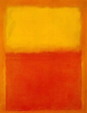 馬克.羅斯科(Mark Rothko)《橙、紅、黃》(Orange, Red, Yellow)。