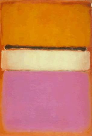 馬克.羅斯科(Mark Rothko)《白色中心》(White Center)。