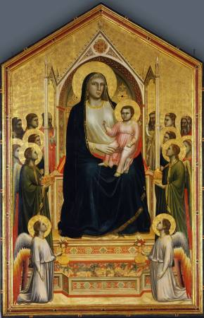 《聖母登極》, Giotto di Bondone, Image from https://simple.wikipedia.org/wiki/Giotto_di_Bondone#/media/File:Giotto_di_Bondone_090.jpg