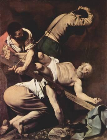 《聖彼得受難》/ Michelangelo Merisi da Caravaggio, Image by https://zh.wikipedia.org/wiki/%E5%8D%A1%E6%8B%89%E7%93%A6%E4%B9%94