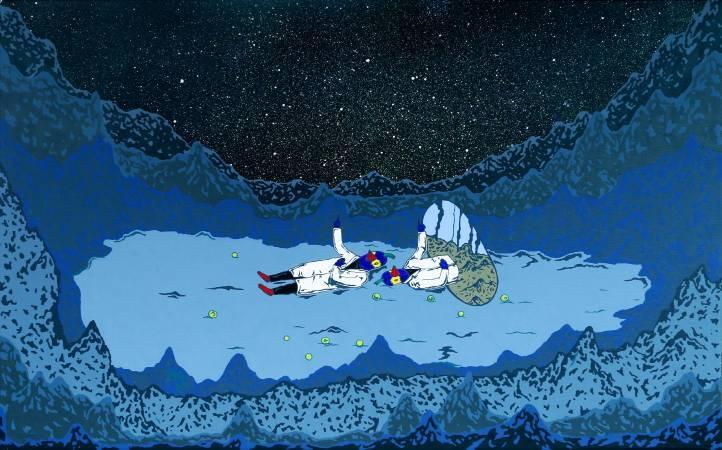 2016_張騰遠_與白晝的你分享夜空_壓克力 畫布 acrylic on canvas_45x70cm