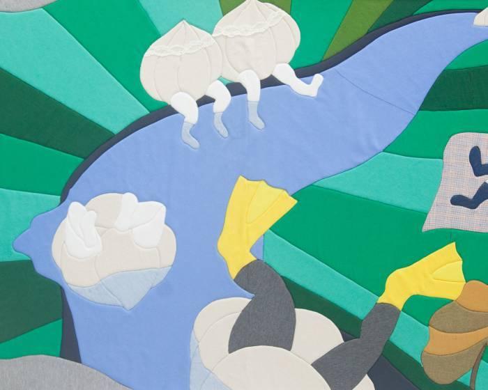 新北市藝文中心【蒜頭人─】范宇織品插畫個展