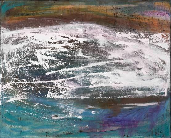 林瓊瑛 宇宙之歌 60.5 x 72.5 cm 油彩、畫布 2016
