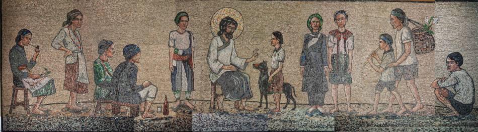 《耶穌的祝福》,2004。圖/取自陳景容數位美術館。