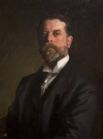 薩金特《自畫像》(Self-Portrait),1907。圖/取自Wikipedia。