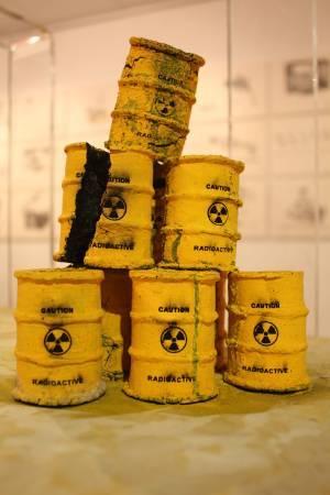 輻射_自製墨條、水泥