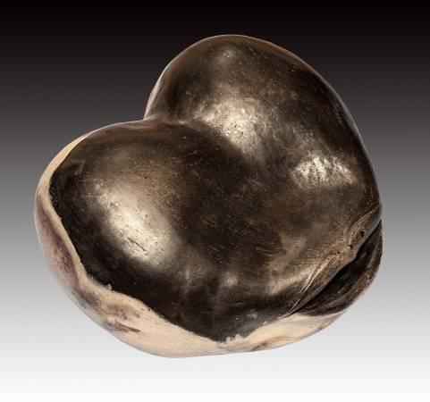 朱寶雍 《食色》 1990  50×50×50公分  陶土坑燒