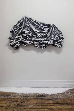 《布紋習作001》,不規則尺寸,混合媒材,2014