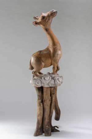 指鹿為馬NO.3   尺寸170×48×45cm  材質  烏心石、樟木