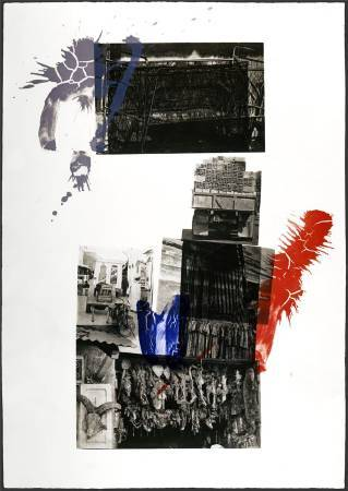 羅伯特 ‧ 羅森柏格 Robert Rauschenberg, 摩洛哥 Morocco, 1989, 凹板印刷 intaglio print , 105 cm x 74 cm