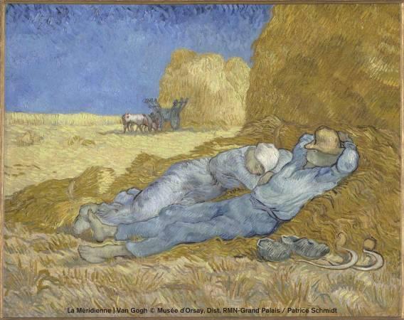 文生.梵谷,《午睡》,1889-1890