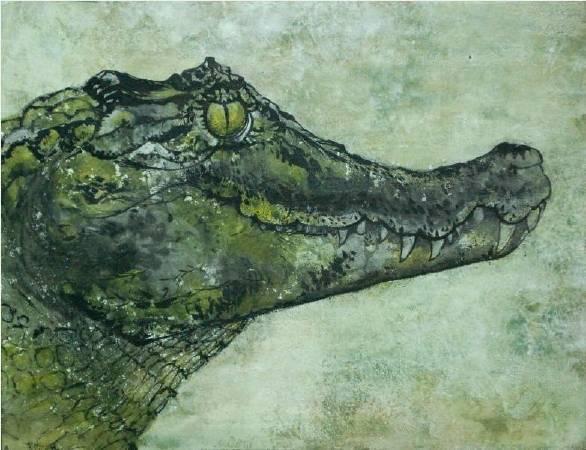 《黃眼睛》,彩墨紙本,33 x 24 cm,2012
