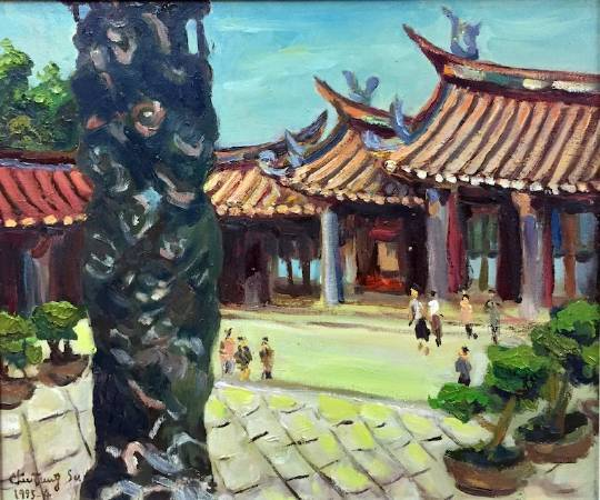 臺北孔廟 1995.38×45cm.油彩畫布