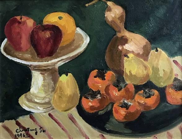 紅柿 1994.31×40.5cm.油彩畫布