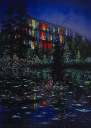 趙博《沒有重量的風景》,油彩、畫布,280x200cm,2016。