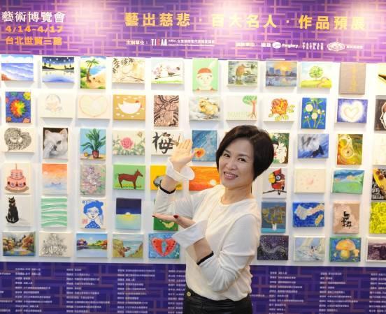 廣播節目主持人楊月娥於現場分享透過創作得到抒壓。