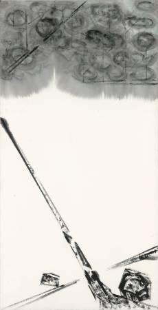 許雨仁《彩墨系列之三十二》 138×70cm 2013 彩墨、紙