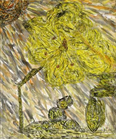 許雨仁《彩筆系列之十六》 89×74cm 2016 壓克力、墨、畫布