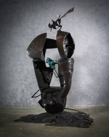 探春 Visiting Spring 156x127x240cm,Bronze,2015