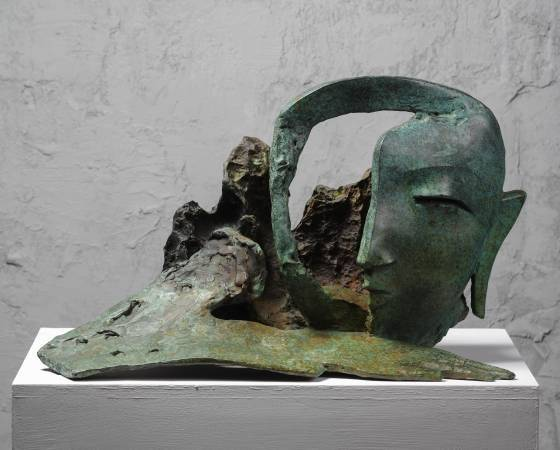 閱讀大地  Reading the earth 53x24x38cm,Bronze,2009