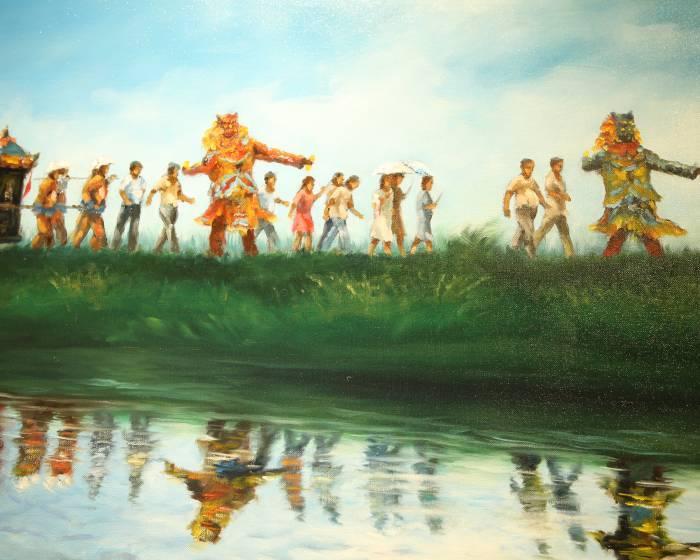 南瑤宮笨港進香藝術家聯展 平面畫作串起進香路