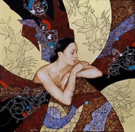 Olga & Sergey Kamennoy (KAMU)《Le Reve》Mixed Medium on canvas_80×80cm_2016俄羅斯&烏克蘭
