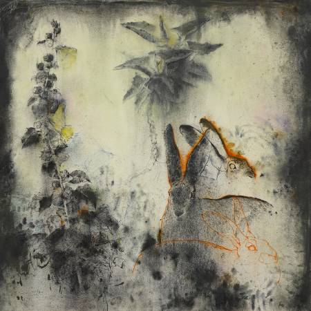 梁兆熙  兔A1601  2016  色粉、炭筆、壓克力  95×95cm