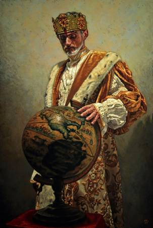 Carlo Alberto Palumbo《The Globe》 Oil on Canvas 100×150cm 2016 義大利