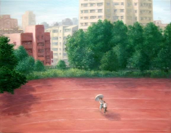 運動場上的人  油彩‧畫布 116.5x91cm  2008