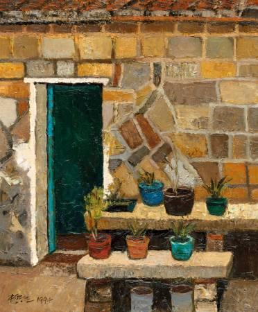 楊興生 - 金門古屋 - 1994 - 油彩 畫布 Oil on  Canvas - 45.5x37.5cm