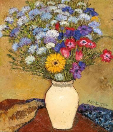 楊興生 - 採花日記六 - 1994 - 油彩 畫布 Oil on  Canvas - 52.5x45cm