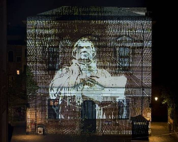 宗教改革500周年 馬丁路德肖像點亮威尼斯教堂