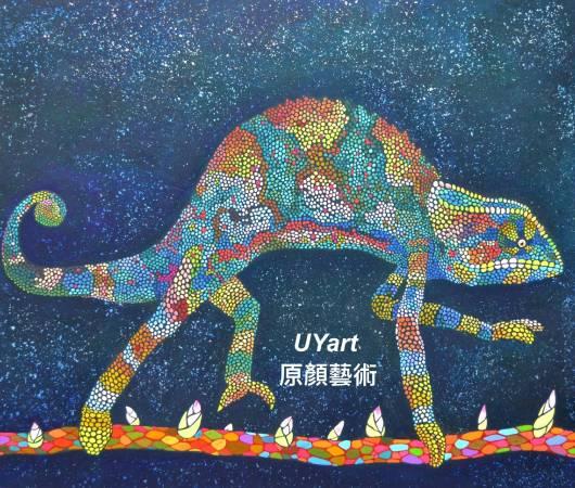 星星落下的那天 45.5×53㎝(10F) 高知麻紙、墨、礦物顏料、壓克力