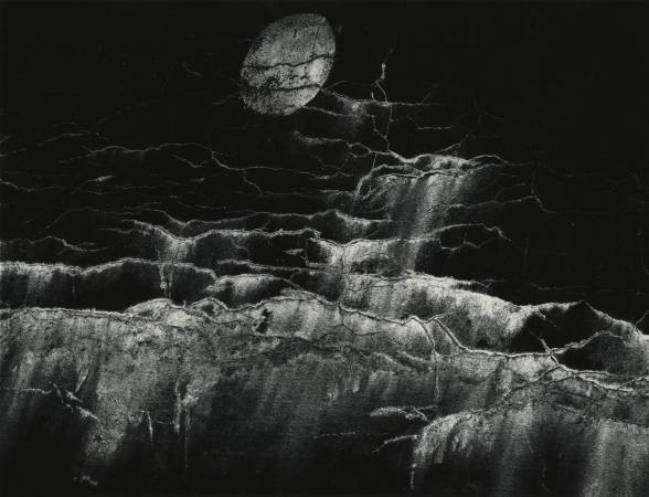 Moon and Wall Encrustation, Pultneyville, NY, May 10, 1964