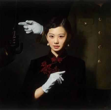 《大民國-信仰的指向》140X140CM  2015 Oil on Canvas