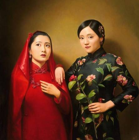 《大民國-紅娘》 150X170CM   2015 Oil on Canvas