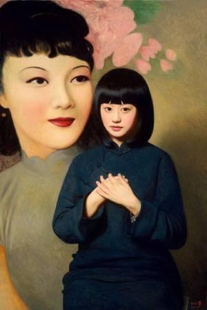 《大民國-對月流珠》  100X150CM    2016  Oil on Canvas