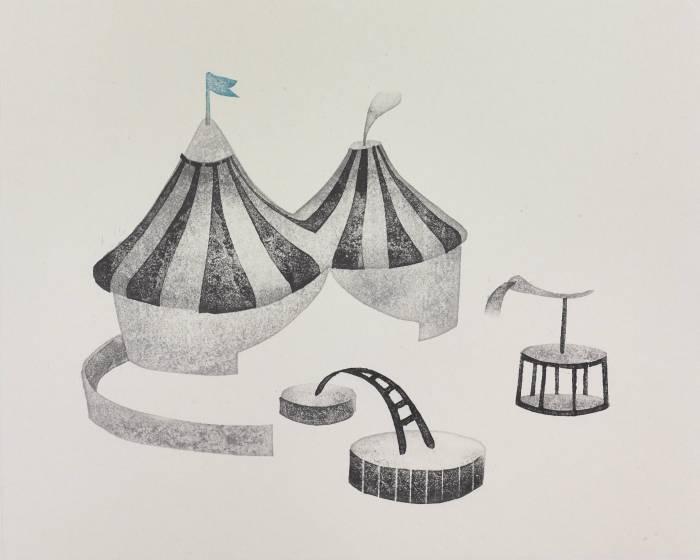 當代一畫廊【籬人之境】李育貞 & 張婷雅 版畫創作雙個展