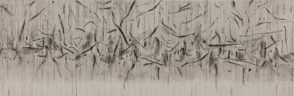 劉永濤 《忘城圖》 58×180cm  皮纸墨汁