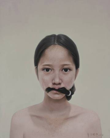 不語 Muteness 100 x 80cm 布面油畫 Oil on Canvas 2013