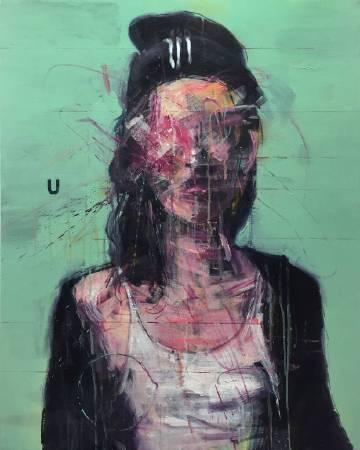 金炳官,Faking Mirror #006,2015,壓克力彩、畫布,90.9x72.7cm