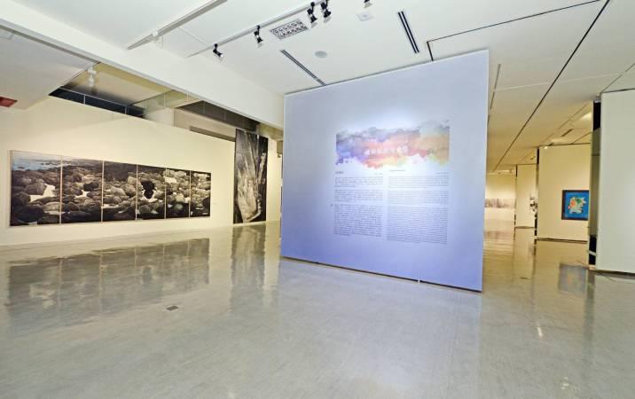 國美館「記憶的交織與重疊─後解嚴臺灣水墨」展場